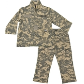 Trooper Clothing Little Boys/Boys ACU Army Camouflage Shirt and Pants 2 Pc. Set
