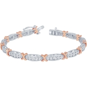 Sterling Silver 1/4 CTW Diamond Unity and Togetherness Bracelet