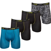 Hanes X-Temp 4-Way Stretch Mesh Printed Boxer Brief 4 pk.