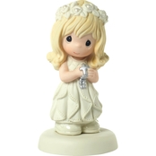 Precious Moments Communion Blonde Girl Figurine