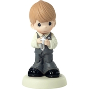 Precious Moments Blonde Boy Figurine