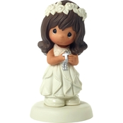 Precious Moments Communion Brown Hair Girl Figurine