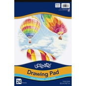 Pacon Heavyweight Paper 12 in. x 18 in. Drawing Pad 24 Sheets