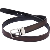 Perry Ellis Reversible Burnished Edge Leather Belt