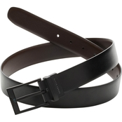 Perry Ellis Reversible Black Cap Leather Belt
