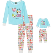 Dollie and Me Girls Cats Meow 2 Pc. Pajama Set