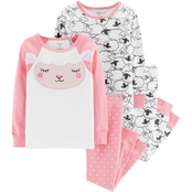 Carter's Infant Girls 4 pc. Sheep Pajama Set