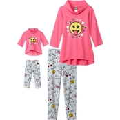Dollie And Me Little Girls 2 Pc. Emoji Leggings Set