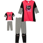Dollie And Me Little Girls 2 Pc. Cat Leggings Set