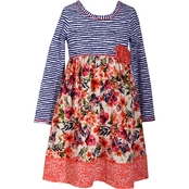 Bonnie Jean Girls Stripe to Floral Dress