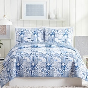 Makers Collective Molly Hatch Swatch Blue 3 pc. Quilt Set