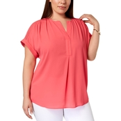 Charter Club Plus Size V Neck Top