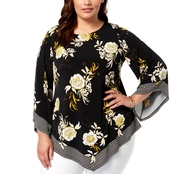 Alfani Plus Size Asymmetrical Hem Top