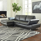 Signature Design by Ashley Carrnew 2 pc. Sectional LAF Corner Chaise/RAF Loveseat