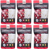 Wise Company Emergency Food Simple Kitchen Freeze-Dried Strawberries & Yogurt 6 pk.