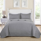 VCNY Triangle Pinsonic 3 Pc. Quilt Set