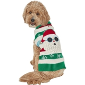 Petco Holiday Tails Cool Claus Ugly Christmas Dog Sweater