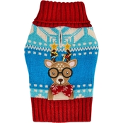 Petco Holiday Tails Oh Deer Ugly Christmas Dog Sweater