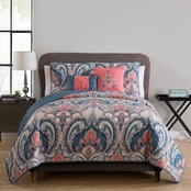 VCNY Casa Real Reversible Quilt Set Coral