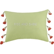Jessica Simpson Watercolor Garden Rise and Shine Throw Pillow