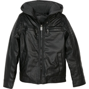 Urban Republic Boys Faux Leather Ribbed Shoulder Jacket