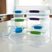Sistema Multi Colored Klip It 36 pc. Food Storage Containers Set
