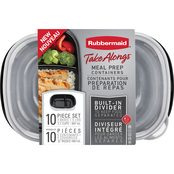 Rubbermaid TakeAlongs Meal Prep Containers 10 pc. Set