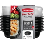 Rubbermaid TakeAlongs 20 pc. Rectangle Meal Prep Set