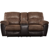 Ashley Follett Reclining Console Loveseat