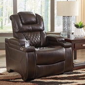Ashley Warnerton Power Recliner with Power Adjusting Headrest