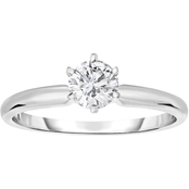 14K Gold 1/2 ct. Diamond Solitaire Engagement Ring
