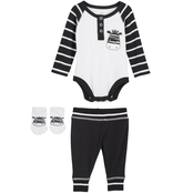 Infant Boys 3 pc. Bodysuit Pants Socks, Zebra