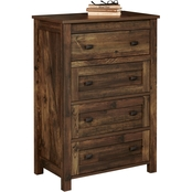 Ameriwood Home Farmington 4 Drawer Rustic Dresser