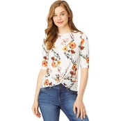 Wallflower Juniors Printed Knot Front Tee