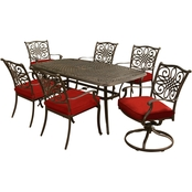 Hanover Traditions 7 pc. Outdoor Dining Set with Cast Top Table