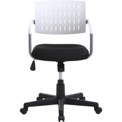 Hodedah Mid Back Adjustable Swivel Desk Chair