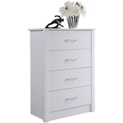 Hodedah 4 Drawer Chest