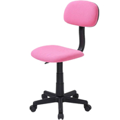 Hodedah Armless Low-Back Adjustable Height Swiveling Task Chair