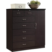 Hodedah 7 Drawer Chest with Door