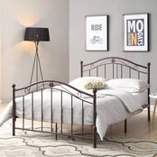 Hodedah Complete Metal Panel Bed