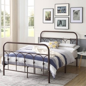 Hodedah Complete Metal Bed