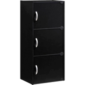 Hodedah 3 Door, 3 Shelf Bookcase