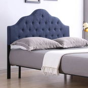 Hodedah Upholstered Tufted Rounded Headboard
