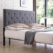 Hodedah Upholstered Tufted Rectangular Headboard