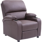Hodedah Recliner with 2 Cup Holders