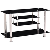 Hodedah 39.4 in. Wide Glass TV Stand