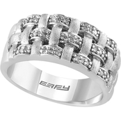 Effy Sterling Silver 1/4 CTW Diamond Ring, Size 7