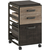 Bush Furniture Refinery 3 Drawer Mobile File Cabinet