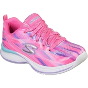 Skechers Girls Jumpinjams Multi Streak Print Lace-Up Sneakers