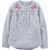 OshKosh B'gosh Little Girls Collarless Shirt